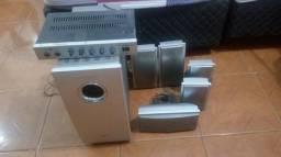 Home theater e amplificador