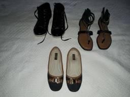 Sapatilha moleca, sandalia dakota, tenis verniz