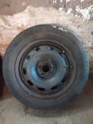 Rodas 15 5 furos de ferro