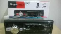 Auto radio c/usb e Bluetooth novo ac/cartão