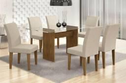 Mesa de Jantar Grécia com 6 cadeiras - Receba Amanhã