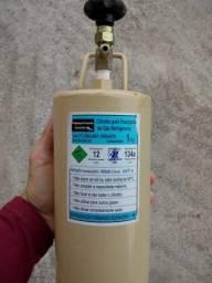 Cilindro 1kg transporte gás refrigerante carregado 134a