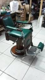 Reformo cadeira de barbeiro
