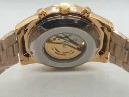 Relógio Winner Skeleton Automático Engrenagem Expostas -