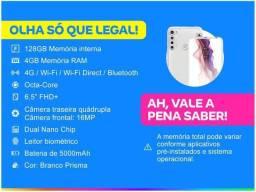 Smartphone Motorola One Fusion+ 128GB Branco - Prisma 4G 4GB Ram Tela 6,5? Câm. Quádrupla