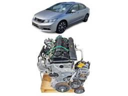 Motor Honda Civic Exr 2.0 2015 2016 Parcial Base De Troca