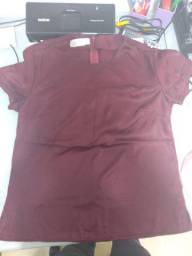 Blusa Feminina cor vinho tinto, tecido sarja