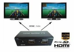 Divisor Hdmi 1x2 Splitter Distribuidor de Sinal Duplicador Tv