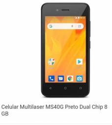 Celular Multilaser MS40G preto dual chip 8GB