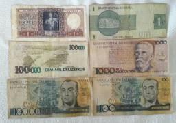 Cédulas e moedas