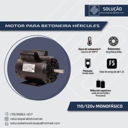 Motor para Betoneira novo 110/220V monofásico