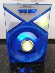Caixa de som Bluetooth 8W RMS Leds FM 200-BT