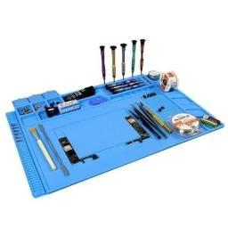 Manta Antiestática Silicone Porta Objetos 450x300mm - Azul