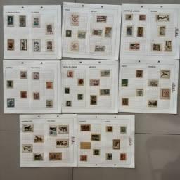 Título do anúncio: Coleção selos estrangeiro - filatelia