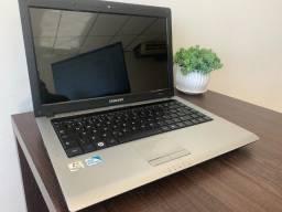 Título do anúncio: Notebook Samsung Dual Core, 4GB, HD 320GB, Grav.DVD, Windows 7 original