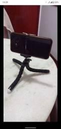 Tripé para celular e câmeras (Gopro, Nikon, etc)