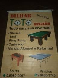 OPORTUNIDADE! VENDA E REFORMA DE SINUCAS,TOTO,PING PONG ,CARTEADO E ARTIGOS DE BILHAR !!!