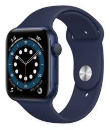 Relógio Apple Watch azul série 6 gps novo