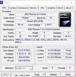 Processador Phenom X4 840 CPU 3.2 GHz