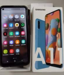 Título do anúncio: Samsung A11 3 meses de uso com nota fiscal.