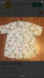 Camisa e Boody Safari azul Tal pai Tal filho