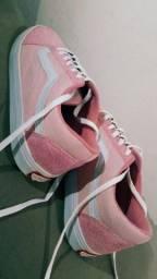 Tênis Vans rosa camurça