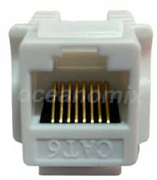 Conector Rj45 Internet Cat6e Keystone - Branco