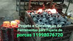 Projeto e Estudo com Troca de Calor para Prensa Freio Frição Construção de Porcas Furadas.