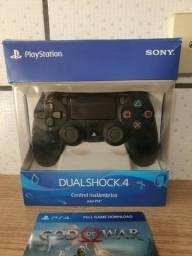 Controle de Playstation 4 com fio! NOVO! LACRADO! Passo cartao! Pix! Entrego!