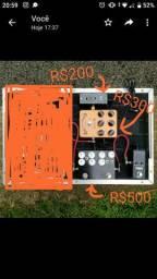 Pedais (Direct Box, Preamplificador, Dual Drive)