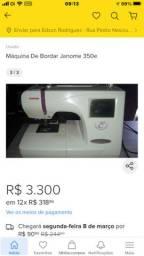 Máquina de bordar  Janome 350 E
