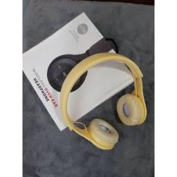 Título do anúncio: Fones de ouvido Y08 Bluetooth com microfone, Rádio FM e Cartão de Memória