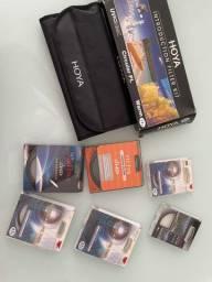 Kit de Filtro Foto 67mm 52mm 77mm 58mm Hoya Canon Kenko