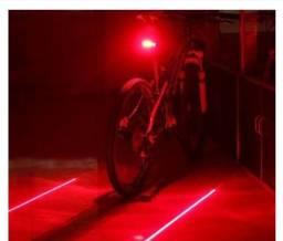 Título do anúncio: Lâmpada Led 2 Laser Para Mountain Bike / Ciclo / Claro De Aviso De Cauda Traseira 2 Laser