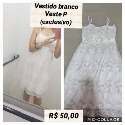 Vestido branco , tam P