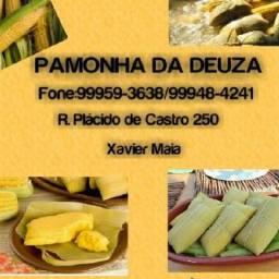 Vende - se pamonhas com castanha doce e salgado