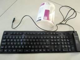 Teclado flexível USB (borracha a prova d'água)