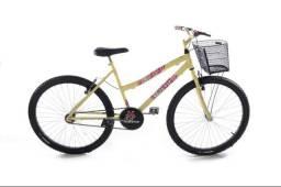 Bicicleta aro 26 feminina com Cesta cor retrô