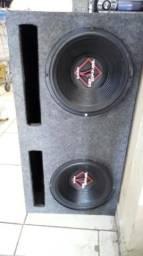 Caixa de 350 rms cada falantes + Força Soundreams 1500