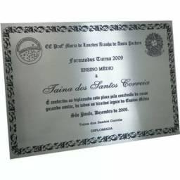 Placas de alumínio personalisadas