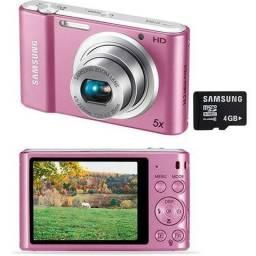 Câmera samsung modelo st64 live panorama 14mp filme hd smart 2.0 na cor rosa