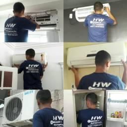 Eletrecista, Instalação de Ar condicionado Split, Limpezas e Reparos em geral.