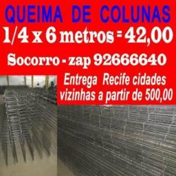 "Colunas de Ferro Prontas ! 1/4"" de 6 metros"