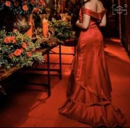 Vestido vermelho de formatura