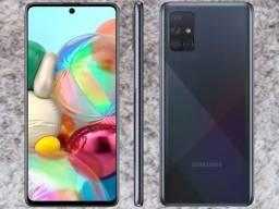 Samsung Galaxy A71 128GB, 6GB ram, Tela 6,7? Câm. Quádrupla, Selfie 32MP
