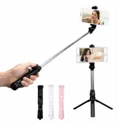 Bastão Pau De Selfie E Tripe Com Bluetooth