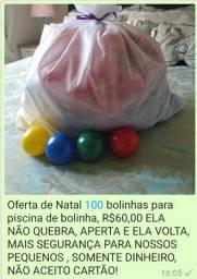 100Bolinhas para piscina de bolinhas 60,00