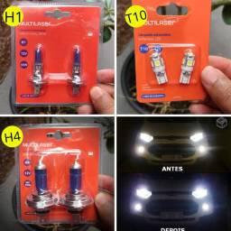 """Lâmpadas Automotivas H1, H4, T10 Super branca """"Originais e Lacradas"""""""
