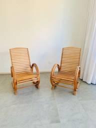 Par de cadeiras de balanço anos 50
