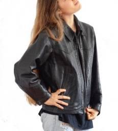 Jaqueta Biker inglesa, couro legítimo, da marca Jigsaw,  feminina